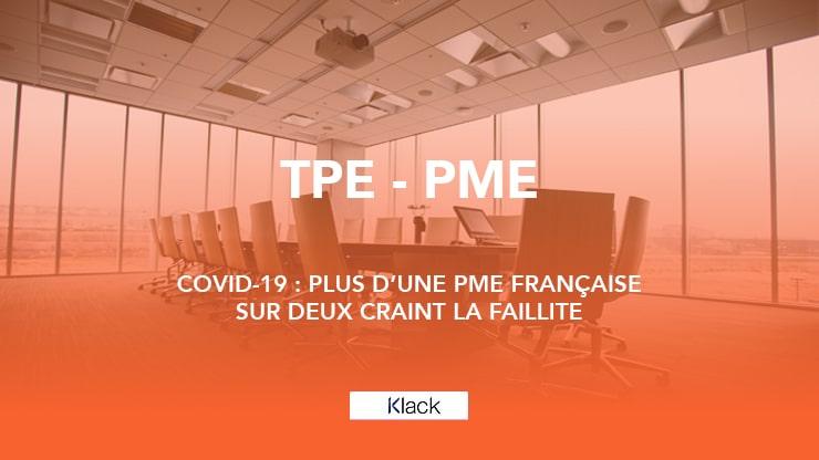 Covid-19 : Plus d'une PME française sur deux craint la faillite